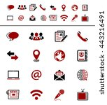 media and communication icons | Shutterstock .eps vector #443216491