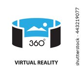 virtual reality  icon and symbol | Shutterstock .eps vector #443219077