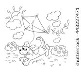 coloring page outline of... | Shutterstock .eps vector #443227471