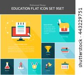 education flat icon set | Shutterstock .eps vector #443229751