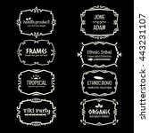 doodle vector frame set.ethnic... | Shutterstock .eps vector #443231107