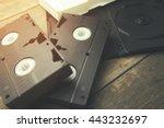 Old Retro Video Tape Over...