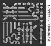 pipe fittings vector icons set. ... | Shutterstock .eps vector #443233141