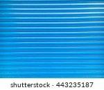 the blue dirty steel shutter... | Shutterstock . vector #443235187