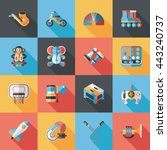 children's toy icons set | Shutterstock .eps vector #443240737