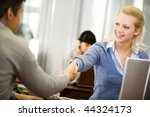 photo of partners handshaking... | Shutterstock . vector #44324173