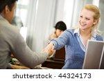 photo of partners handshaking... | Shutterstock . vector #44324173