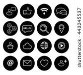 social icons set | Shutterstock .eps vector #443245537