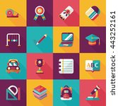 school and education icons set | Shutterstock .eps vector #443252161