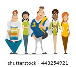 vector character illustration...   Shutterstock .eps vector #443254921