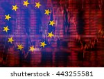 europe flag  downtrend stock... | Shutterstock . vector #443255581