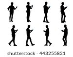 Silhouette Of Man Use Smart...