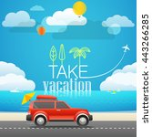 take vacation travelling... | Shutterstock .eps vector #443266285