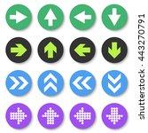 arrow sign icon set. flat style....