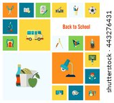 school and education icon set.... | Shutterstock .eps vector #443276431