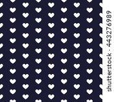 love and heart seamless pattern ... | Shutterstock .eps vector #443276989