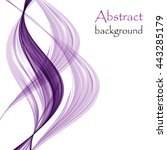 abstract background with purple ... | Shutterstock .eps vector #443285179