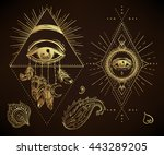 sacred geometry symbol with all ...   Shutterstock .eps vector #443289205