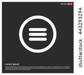 web menu icon. | Shutterstock .eps vector #443293294