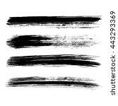 set of four black grunge... | Shutterstock .eps vector #443293369