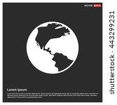 world globe icon | Shutterstock .eps vector #443299231