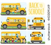 illustration of school kids... | Shutterstock .eps vector #443309149