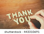 thank you letters and men's... | Shutterstock . vector #443310691