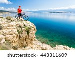 Mountain Biker Looking At View...