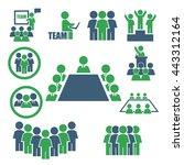ally  alliance  team icon set | Shutterstock .eps vector #443312164