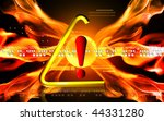 digital illustration of warning ... | Shutterstock . vector #44331280