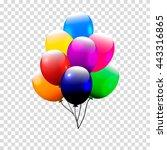 festive balloons real... | Shutterstock .eps vector #443316865