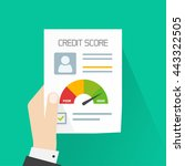 credit score document vector... | Shutterstock .eps vector #443322505