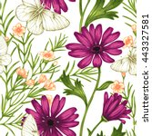 seamless pattern with... | Shutterstock . vector #443327581