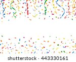 confetti and streamers with... | Shutterstock .eps vector #443330161