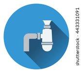 bathroom siphon icon. flat...