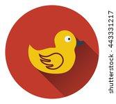 bath duck icon. flat color...
