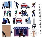 armed burglars committing... | Shutterstock .eps vector #443335615