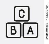 a b c block icon | Shutterstock .eps vector #443339704
