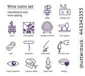 wine violet icons collection.... | Shutterstock .eps vector #443343355