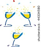 vector glass of champagne | Shutterstock . vector #44334580