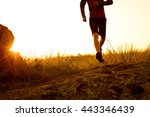 close up of sportsman's legs... | Shutterstock . vector #443346439