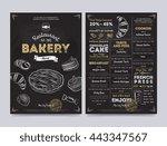 bakery menu design and bakery... | Shutterstock .eps vector #443347567