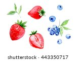 Set Of Strawberry And Blueberry....