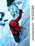 ice climbing the north... | Shutterstock . vector #44335288