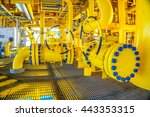 pipeline production and control ... | Shutterstock . vector #443353315