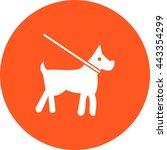 dog on leash | Shutterstock .eps vector #443354299