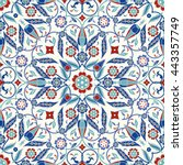 seamless turkish colorful... | Shutterstock .eps vector #443357749