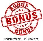 bonus. stamp | Shutterstock .eps vector #443359525