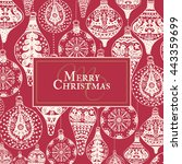 christmas vintage card with... | Shutterstock .eps vector #443359699