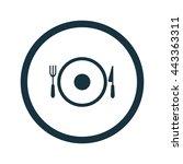 vector illustration of dish icon